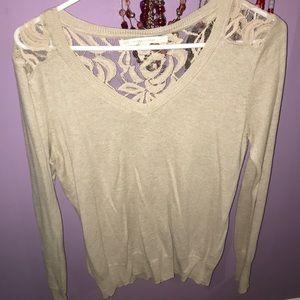 Lauren Conrad tan sweater